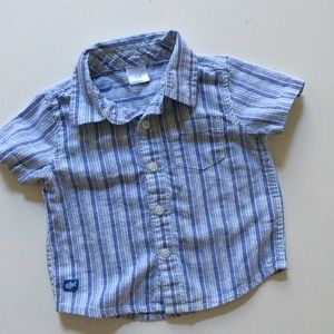 Gymboree striped button down, 6-12 mo